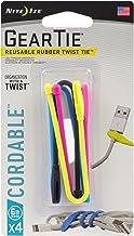 "Nite Ize Gear Tie Cordable Twist Tie 6"" - 4 Pack - Assorted"