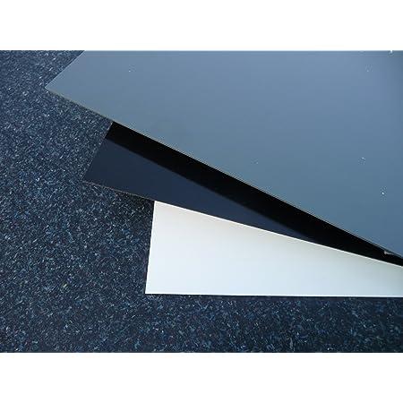 Plaque coup/é de PE rigide 1000 x 495 x 8 mm noir Poly/éthyl/éne