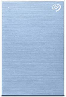 Seagate Backup Plus Slim 1 TB External Hard Drive Portable HDD – Light Blue USB 3.0 for PC Laptop and Mac, 1 Year Mylio Cr...