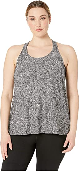 Plus Size Lightweight Paneled Keyhole Bopo Tank Top