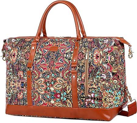 Amazon.com: BAOSHA HB-14 Bolsa de viaje de gran tamaño para mujer, Multicolor, L, Moderno / Equipada : Ropa, Zapatos y Joyería