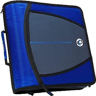 case it 3 inch zipper binder blue