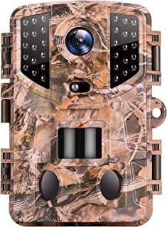 VanTop Ninja 1 Trail Camera 20MP 1080P Hunting Game Cam with Night Vision Motion Activated, Waterproof Scouting Camera wit...