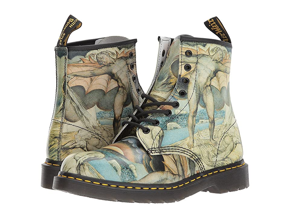Dr. Martens William Blake 1460 8-Eye Boot (White Backhand/William Blake) Lace-up Boots