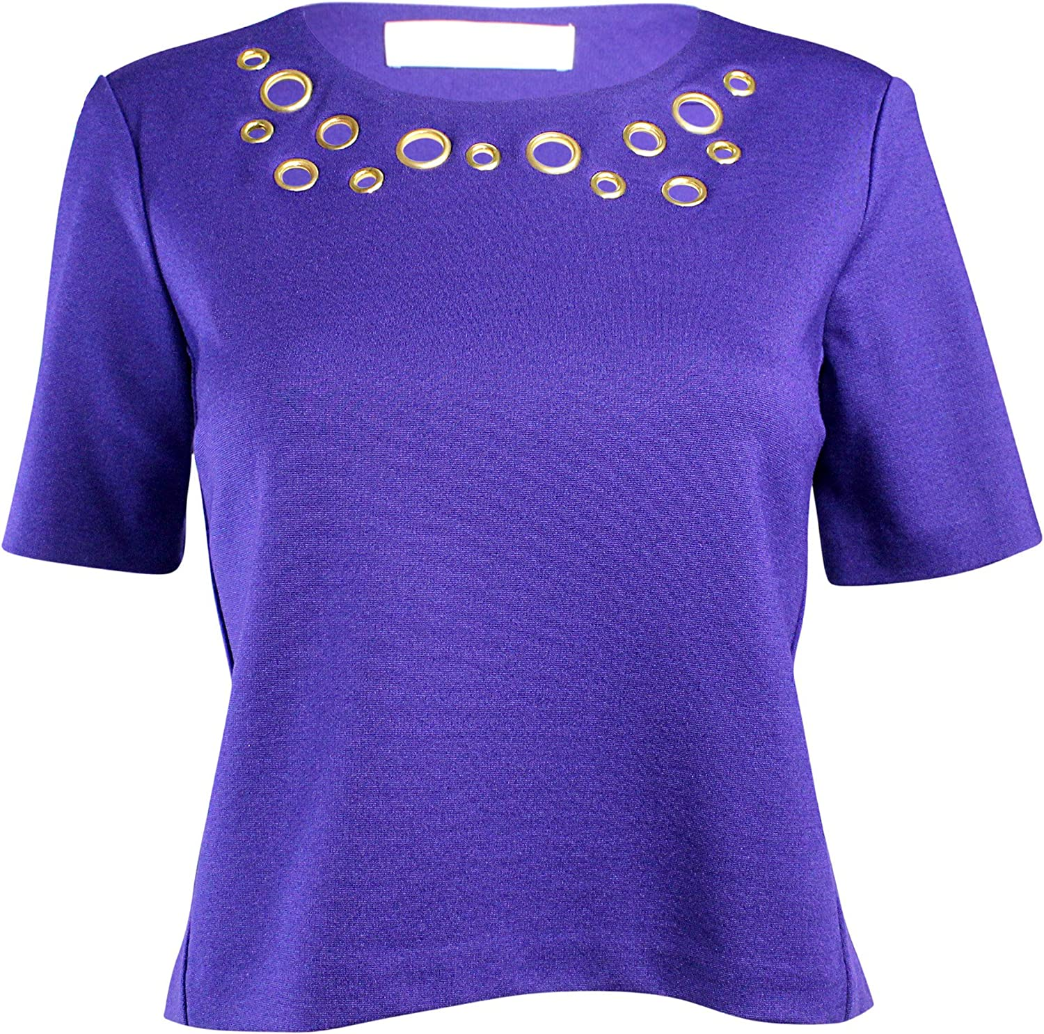 Amanda Uprichard Grommet Necklace Blouse