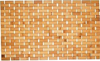 """Morvat Bamboo Bath Mat, Bath Mat, Bamboo Shower Mat, Bamboo Floor Mat, Wood Bath Mat, Wood Shower Mat, Moisture Resistant, Lattice Design, Quick Drying, 27""""x16"""""""