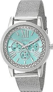XOXO - Reloj de cuarzo para mujer, acero inoxidable y aleación, color plateado (modelo: XO5899)