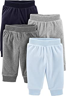 Simple Joys by Carter's Bébé garçon Pantalon En Molleton, Lot de 4
