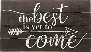 """Best Barnyard Designs The Best is Yet to Come Rustic Wood Hanging Sign Decorative Wall Decor 17"""" x 10"""" Review"""