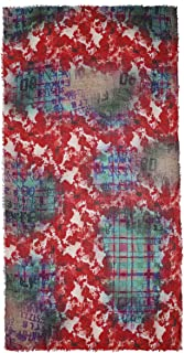 Ahujasons Mujeres pañuelo de impresión de amapola tartán Multi Coloreada