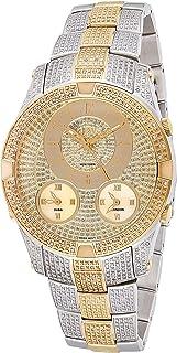 JBW Luxury Men's Jet Setter III 118 Diamonds Three Time Zone Swiss Movement Watch - J6348C