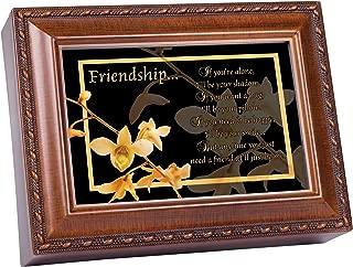Cottage Garden Friendship Woodgrain Music Box Plays Friends are for