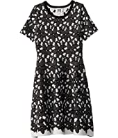 Milly Minis - Floral Mesh Jacquard Dress (Big Kids)