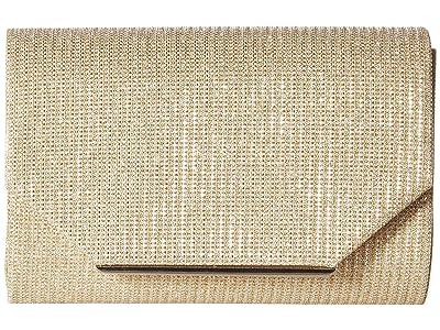 Jessica McClintock Alexis Sparkle Flap (Champagne) Handbags