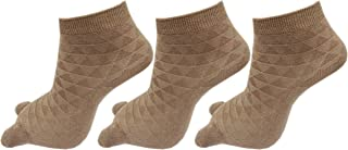 RC. ROYAL CLASS Women's Ankle Length Double Knit Cotton Socks (Skin, Free Size) Pack of 3