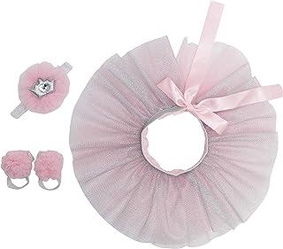 Newborn Girl Tutu Set Skirt with Headband Photography Prop