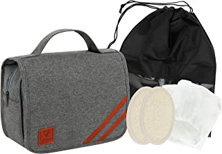 VETELLO Toiletry Bag   The Perfect Hanging Toiletry Wash Bag
