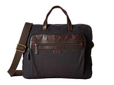 Scully Cambria Laptop Brief (Brown/Navy) Computer Bags