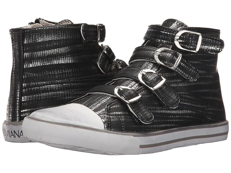 Amiana 15-A5172 (Toddler/Little Kid/Big Kid/Adult) (Black Slash) Girls Shoes