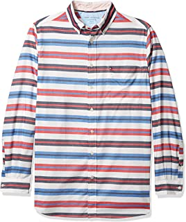 Tommy Hilfiger Men's Big and Tall Button Down Long Sleeve Shirt in Custom Fit