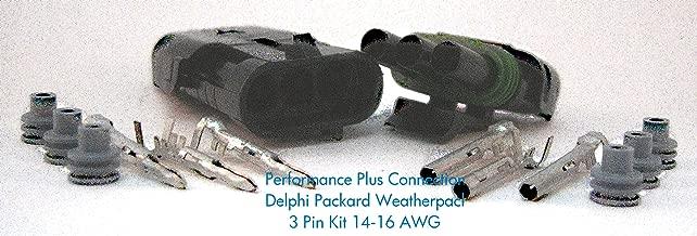 Delphi Packard Weatherpack 3 Pin Terminal Kit 16-14 AWG