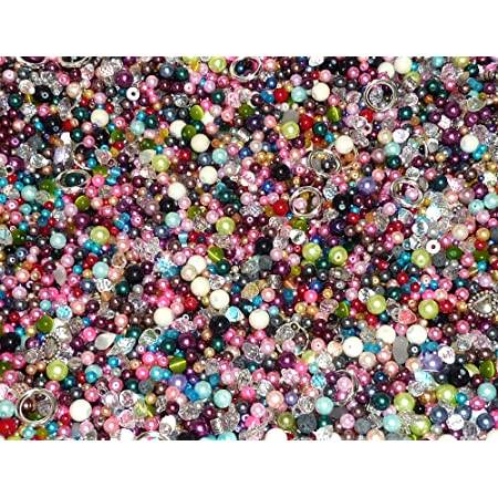 50 Count Handcrafted Paper Beads Loose Bead Assortment Mountain Mix