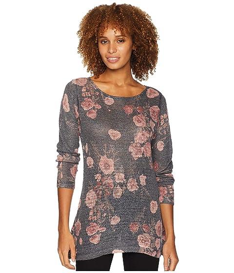 NALLY & MILLIE Long Sleeve Floral Print Tunic, Multi