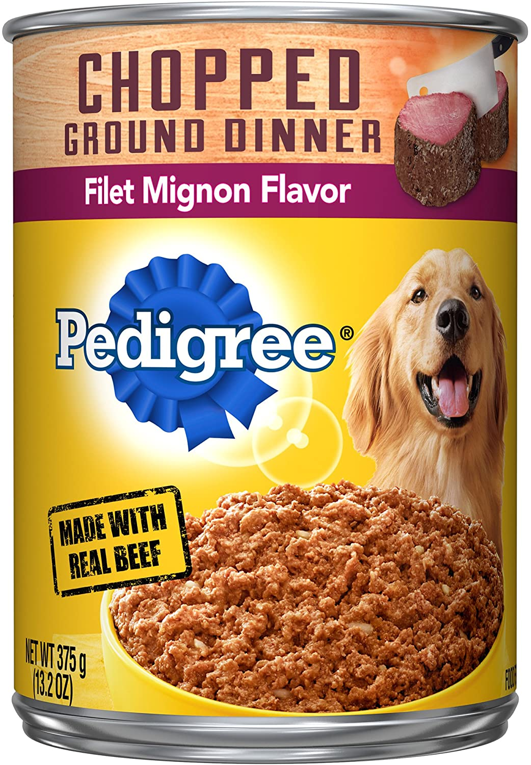 Pedigree Chopped Ground Dinner Adult Wet Dog Food, 13.2 oz. Cans