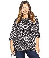 Karen Kane Plus - Plus Size Hi-Lo Raglan Sleeve Top