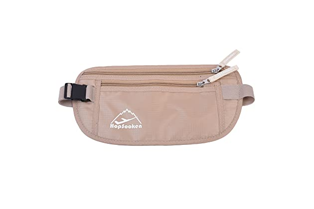 48844a69a55 HOPSOOKEN Travel Money Belt  RFID Waist Pack for Running