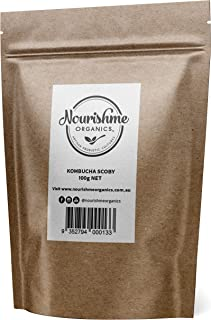 Kombucha Scoby- Make Your own Kombucha with Our Fresh Live Real Organic Kombucha Starter Culture by Nourishme Organics- 100g