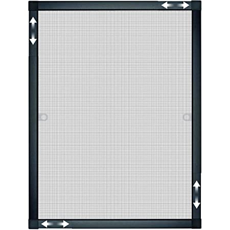 Fenster 150cm x 170cm, 19mm Einh/ängewinkel Alu SCHWARZ Weiss optimal f/ür Roll/äden Gitter Fliegengitter M/ücken Insektenschutz
