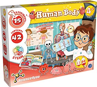 Science4You 918920.006 Human Body STEM Science Kit for Kids Ages 4+