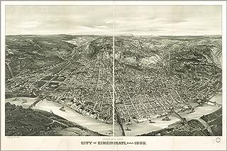 20x30 Poster; Panoramic Map, City Of Cincinnati, Ohio 1900