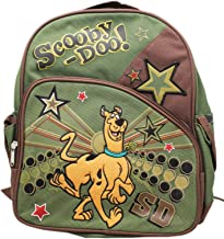 Scooby-Doo! Canine Star Dark Green/Brown Small Size Kids Backpack (12in)