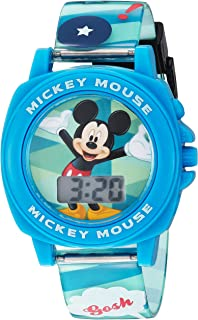 Disney Boy's Digital Plastic Casual Watch, Color:Blue...