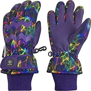 N Ice Caps Girls Ombre Shaded Waterproof Thinsulate Winter Snow Ski Gloves 78139c89d4b
