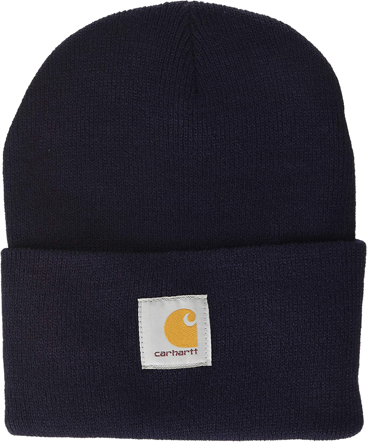 Carhartt Men's Knit Cuffed Beanie, Navy, One Size at  Men's Clothing store: Cold Weather Hats