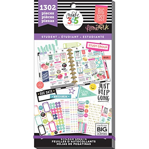 Me & My Big Ideas Yay Student, 1302/Pkg Happy Planner Sticker Value Pack