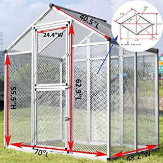 GooGGiG Large Heavy Duty Aluminum Bird Cage Parrot Cockatiel Macare Pet Walk in Aviary Pet House Play for Bird Cage Parrot Macaw Flight Small Dog Chicken, Pig, Goat, Monkey Indoor/Outdoor