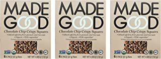 Made Good Chocolate Chip Crispy Squares Pack of 3 Non-GMO Organic and Gluten Free