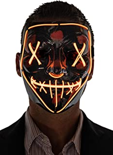 Men's Light Up Purge Mask