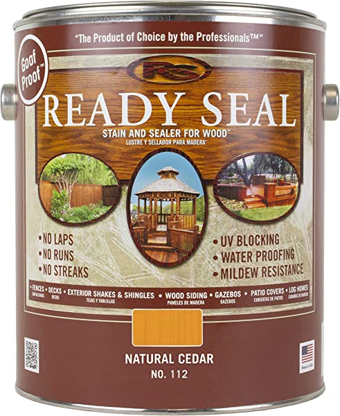 Ready Seal 112 1 Gallon Can Natural Cedar Exterior Wood Stain And Sealer