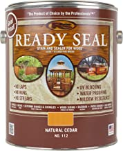 Ready Seal 112 1-Gallon Can Natural Cedar Exterior Stain and Sealer for Wood
