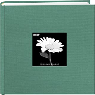 Fabric Frame Cover Photo Album 200 Pockets Hold 4x6 Photos, Tranquil Aqua