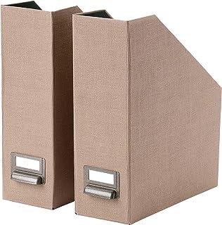comprar comparacion Archivador de revistas, color beige oscuro, paquete de 2 pulgadas, tamaño ensamblado, ancho: 10 cm, profundidad: 26 cm, al...