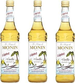 Monin Sirup Vanille Light, 0,7L 3er Pack