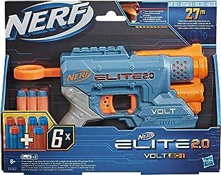 Nerf Elite 2.0 Volt SD-1 Blaster - 6 Official Nerf Darts, Light Beam Targeting, 2-Dart Storage, 2 Tactical Rails to Custom...