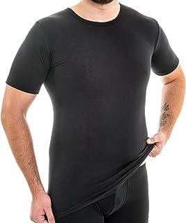 Rwrd Haut Hommes Décontracté rayé noir coton taille 4xl 49//50