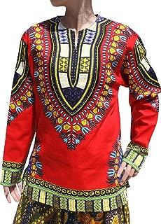 Raan Pah Muang 开领长袖非洲吉基印花舞蹈阿夫里卡衬衫